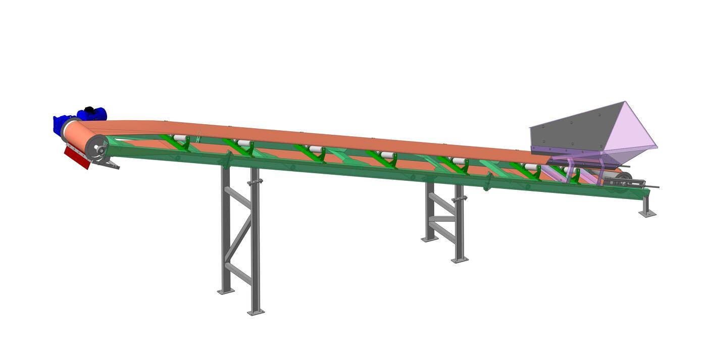 Наклонный конвейер абз область применения винтового конвейера